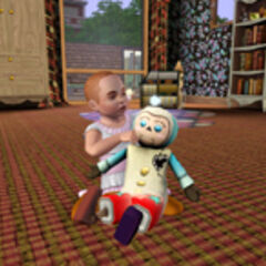Малыш играет с воображаемым другом