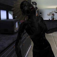Bonehilda en su forma humana después de ser electrocutada