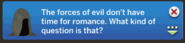 Grimreaper sims4 ask if single response 1