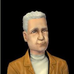 Alejo Clavel en Los Sims 2, fallecido.