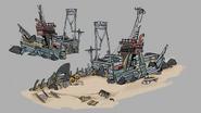 Island Living Shipwreck concept art