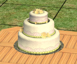 Sophisticated Sweet Reed Cake