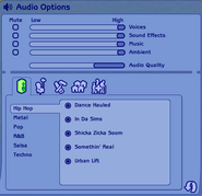 The Sims 2 Audio Options