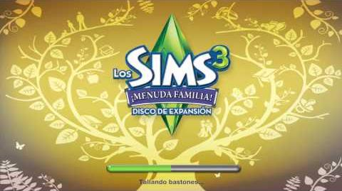 Pantalla de carga de Los Sims 3 ¡Manuda Familia!.mp4