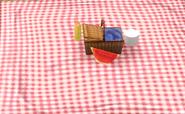 Open Picnic Basket