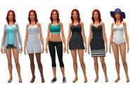 Katrina Caliente wardrobe
