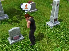 Mourning at a grave