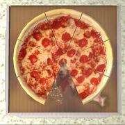 Коробка пиццы (без кусочка)