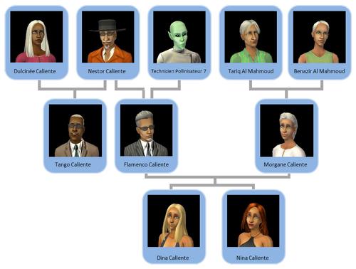 Arbre généalogique Famille Caliente Al Mahmoud