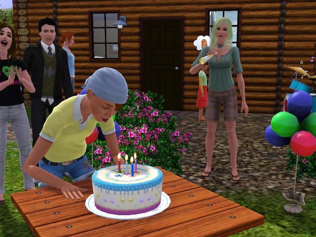 Sims  Cheats Birthday Cake