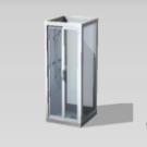 Cabina de ducha postmoderna