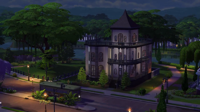 TS4 Goth House in Willow Creek