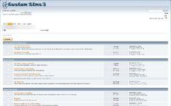 Website custom sims 3 screen