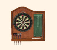 Burled Wood Dartboard