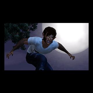 Un hombre lobo del trailer de <i>Los Sims 3: Criaturas Sobrenaturales</i>.