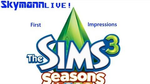 Skymann Live The Sims 3 Seasons First Impressions 25th of November 2012