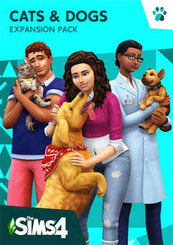 TS4 Cats & Dogs Cover Art