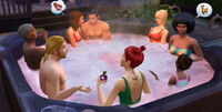 Perfect patio stuff hot tub party
