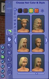 CAS - Visage & Cheveux (Les Sims 2)
