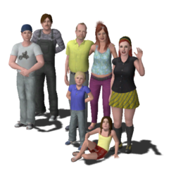 Broke Family (The Sims 3)