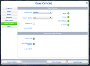TS4 Options Screen Capture