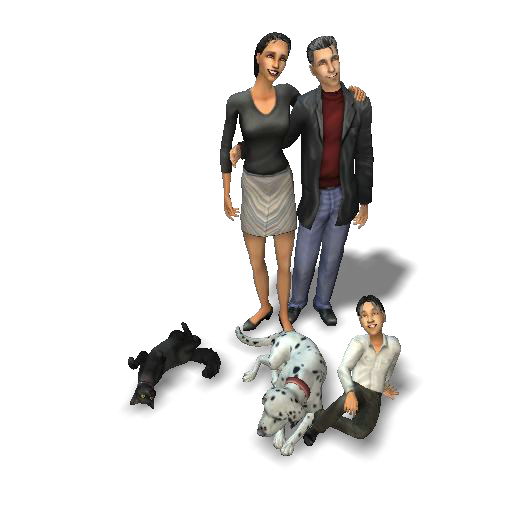 Kim family  The Sims 2  png. Image   Kim family  The Sims 2  png   The Sims Wiki   FANDOM