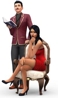 Render Vladimir et Sonia Gothik Les Sims 4