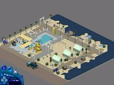 The Sims Vacation Sunset Beach Full View