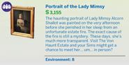 Portrait of the Lady Mimsy Description