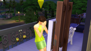 Sim cry while painting