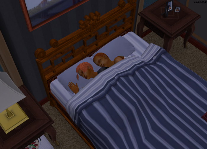 Johnny and Suzie sleeping