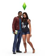 TS4 LeVar & Mica Burton Render