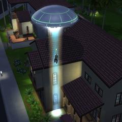 Abducción alienígena en <i>Los Sims 4: ¡A Trabajar!</i>
