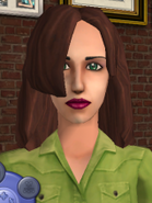 (TS2 Remake) Unused Bella Squared Base Brunette-Brown Haired AKA Brown Woman Hair In Body Shop