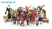 The Sims 15th Anniversary Celebratory Render