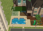 Amar's Hangout pool and park overhead 1