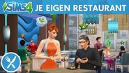 Officiële gameplaytrailer van De Sims 4 Uit Eten je eigen restaurant