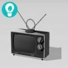 Televisor con antena vintage