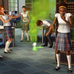 Sims adolescentes pueden hacer bromas.