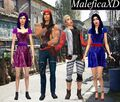 (photo) Descendants dress Jay and Carlos by MaleficaXD sims4 Mal y Evie Bonus.jpg
