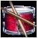 Барабаны навык иконка