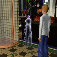 Воображаемый друг превратился в призрак с помощью призрачного зелья.