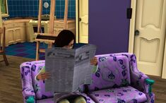 Reading the newspaper (TS3)