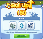 Sims Social - Skills - Music - Skill Up lvl 150