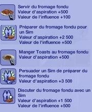 Désirs Fromage fondu