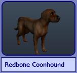 Redbone Coonhound (Sims 2)