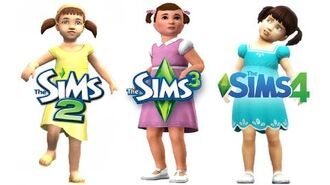 ♦ Sims 2 vs Sims 3 vs Sims 4 Toddlers