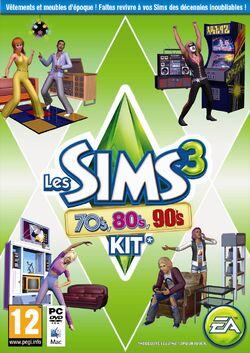 Jaquette Les Sims 3 70's 80's 90's