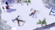 TS3 seasons winter snowangels