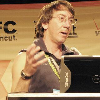 Will dando una conferencia